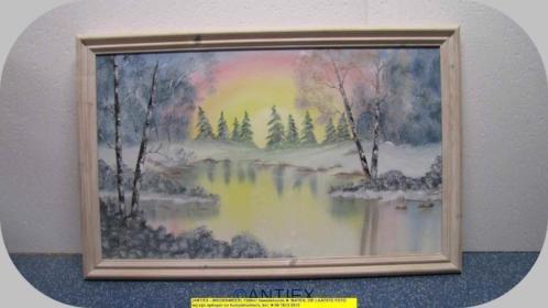 9690 - schilderij - winterlandschap - William James - € 35