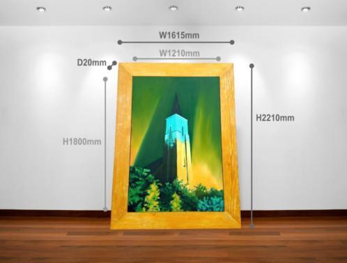 Zeer groot schilderij met origineel frame van Arjo ROZENDAAL