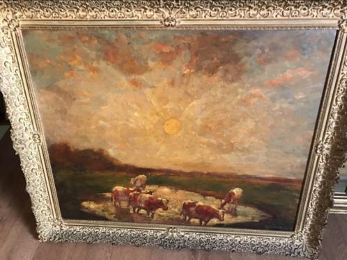 JDoeser groot schilderij koeien 120x105 cm