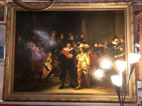 Grote versie schilderij de Nachtwacht Rembrandt geschilderd