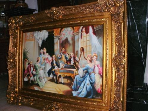 *Bijzonder mooi gesigneerd schilderij met prachtige kader.