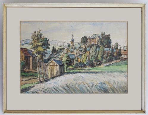 mooie aquarel Hohenberger - Schauenstein Frankenwald