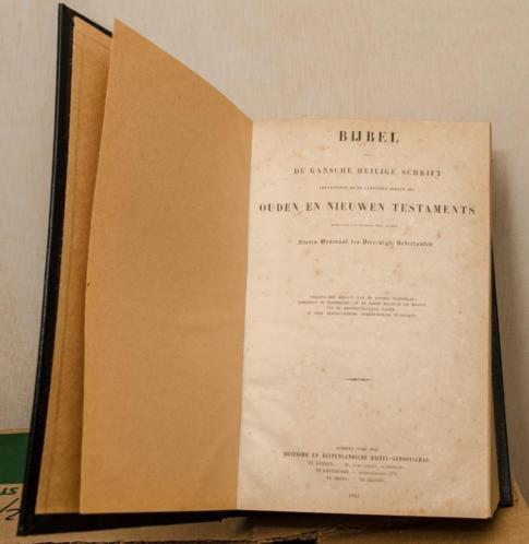 Grote Statenbijbel uit 1845 in zéér goede staat