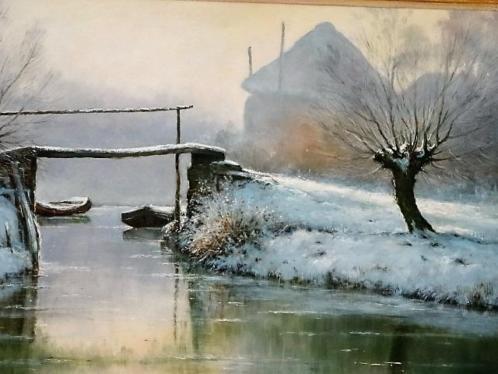 Jan Scholten 1948 (Veluweschilder) Wintergezicht