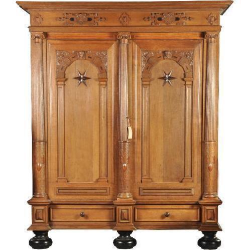 Antieke kasten / monumentale Hollandse 2-deurskast 2,49 h...