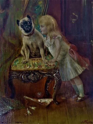 J. Hoyer .- Meisje met hond