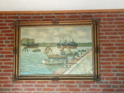 klassiek schilderij zeer groot antiek barok jaren 50 izgst