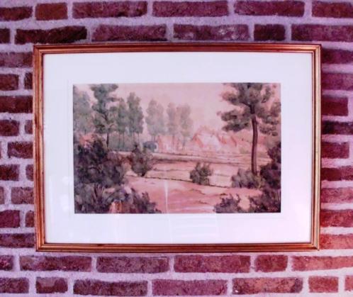 Landschap aquarel.
