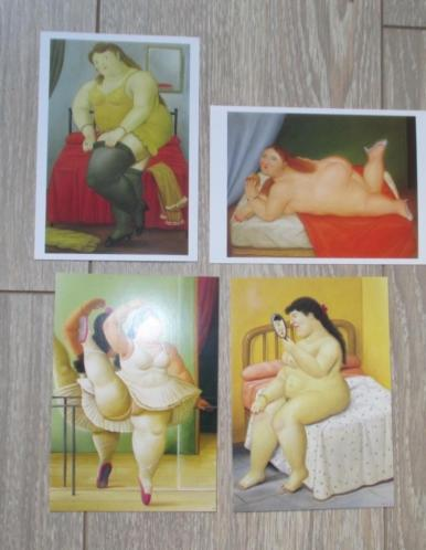 Fernando botero 4 ansichtkaart - reproducties 4 voor 4,50