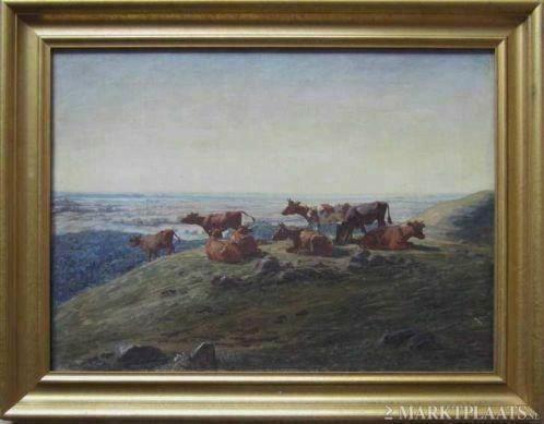 ==DEENS===Luplau Janssen 1869-1927==landschap met koeien=