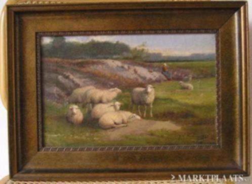 ==J L van Leemputten 1865-1945===landschap met schapen===