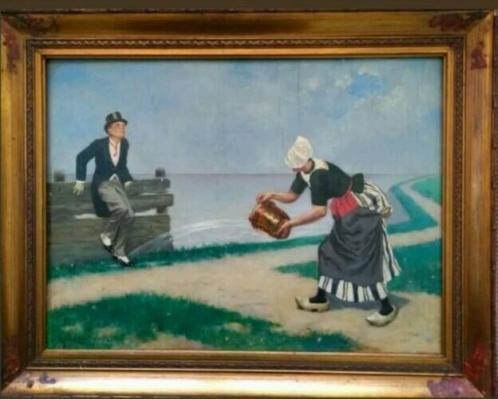 Schilderij op paneel van Johan Coenraad Braakensiek