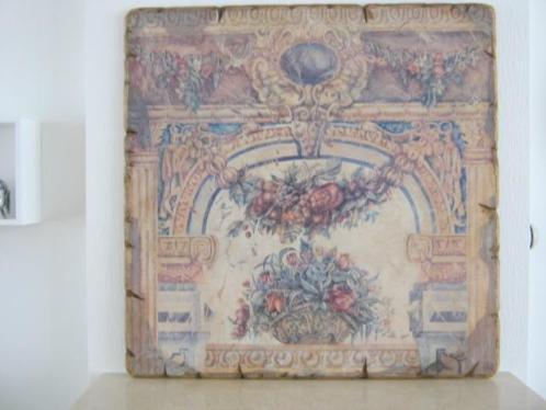 Wand plaat Romeinse voorstelling +/- 100x100 cm