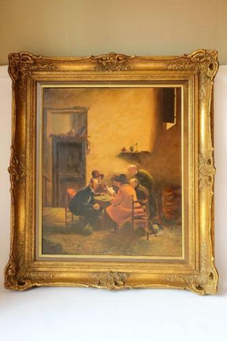 schilderij klassiek heren aan tafel - wie is de kunstenaar ?