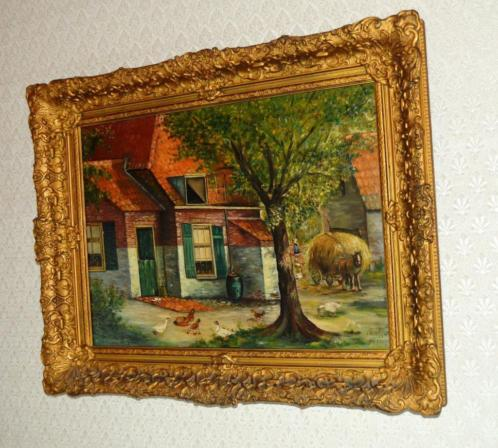 olieverf schilderij F.Troost 1945