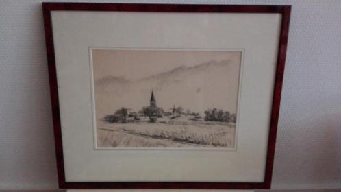 Tekening van Terp, Tj. v.d. Laan ~ 41,5 x 50,5 cm.