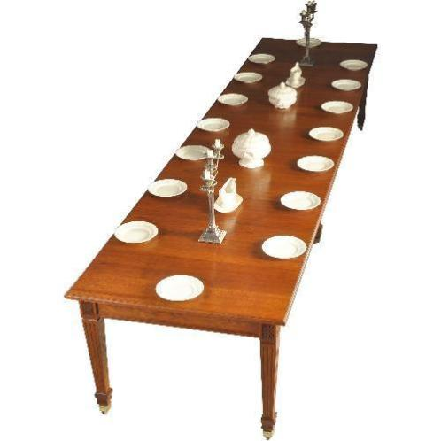 Antieke tafels / Strakke eikenhouten coulissentafel 4,33 ...