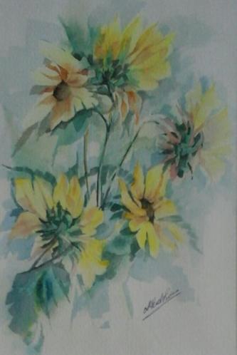Stilleven met zonnige bloemen - fris bloemstilleven