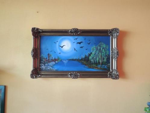 Schilderij Vleermuizen ingelijst