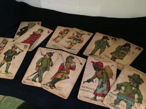 antieke kaarten zwarte piet zwartepietenspel