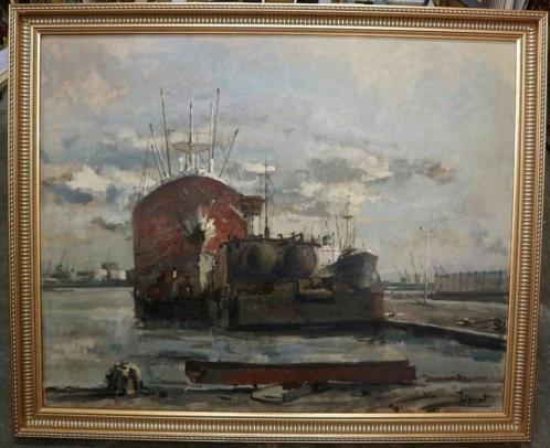 Juul De Cort, havengezicht op doek