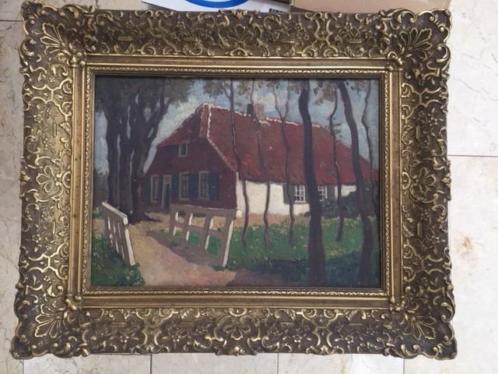 Schilderij boerderij in De Klomp anno 1850 (2)