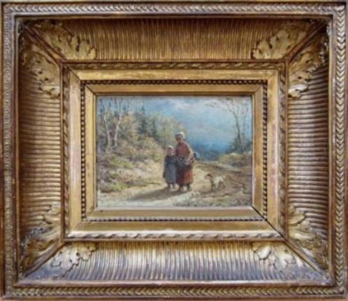 == Theodoor Soeterik 1810-1883 ==boerin met kind op landweg=