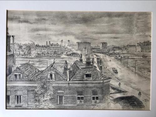 Chris Schut, Tekening v/h bombardement van Rotterdam WO.II