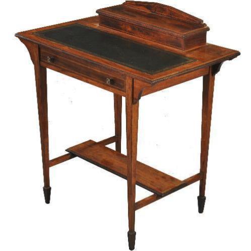 Antieke bureaus / Edwardian schrijftafeltje in palissande...
