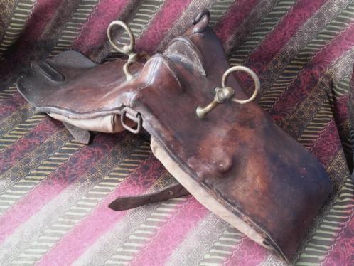 Mooie antieke paarden tuigage uit Engeland leder brons.