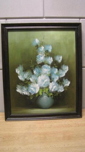 6538 - schilderij bloemen stillleven acrylverf julia - €75