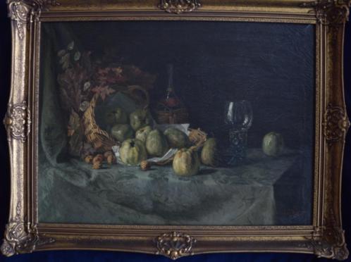 Schilderij + lijst: Stilleven - Cornelis Pouderoijen