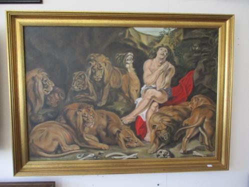 #5008 Schilderij Daniel in de leeuwenput voor €145.-