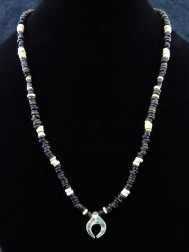 Egyptian necklace made of faience mummy beads and glass Phoe