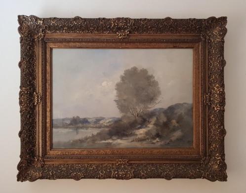 Zeer mooi schilderij met prachtige lijst gesigneerd 1930