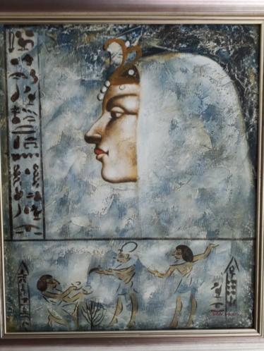 Handgeschilderde schilderijen in mooie lijst