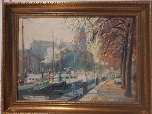 Daniel Mühlhaus - Nieuwe Haven met Grote Kerk te Dordrecht