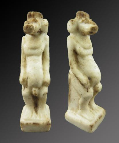Egyptian faience amulet of Toth as Baboon