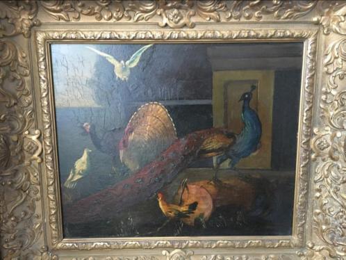Schilderij met lijst gevogelte