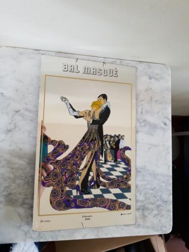 Antieke spiegel Bal Masque