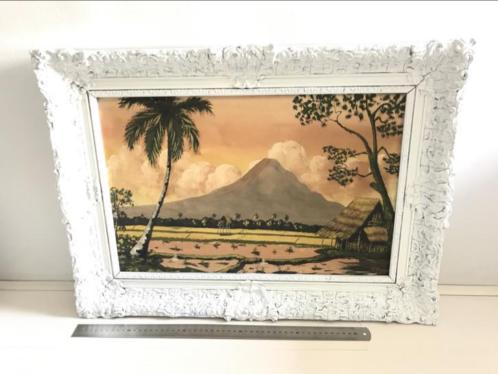 Schilderij van een rijstenveld