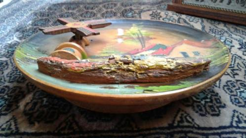 Muziek wandbord met draaiende molen