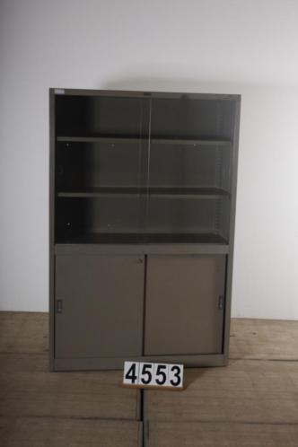 Industriële retro vintage kast/vitrinekast nr.4553