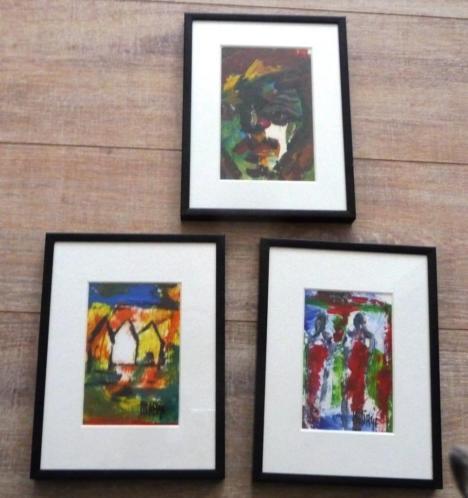 3 olieverfschilderijen van Marije van Stiphout