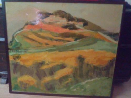 Impressionistisch schilderij olieverf op doek Vaucluse