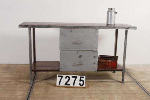 Industrieel vintage werkbank/dressoir/toonbank nr.7275