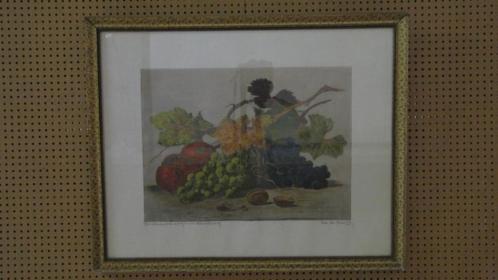 3426 - gemengde techniek schilderij op doek - € 95