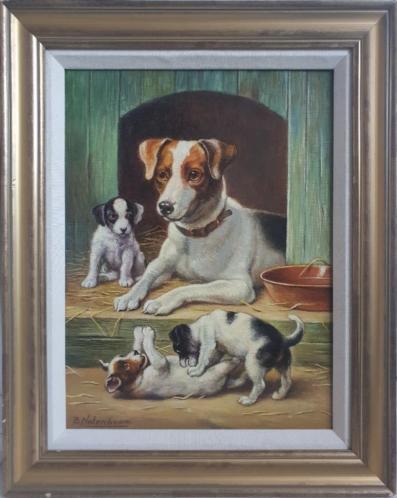 Bert Notenboom 1942 -2011 - Moederhond met haar puppy's