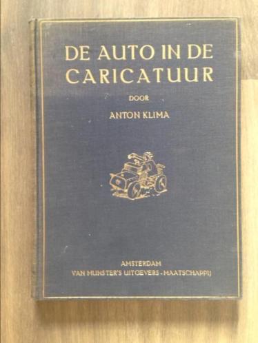Antiek boek 'De auto in de karikatuur'