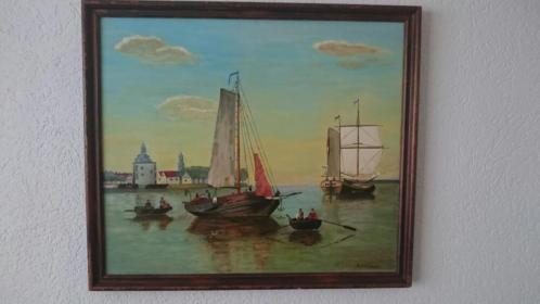 Schilderij maritiem Enkhuizen